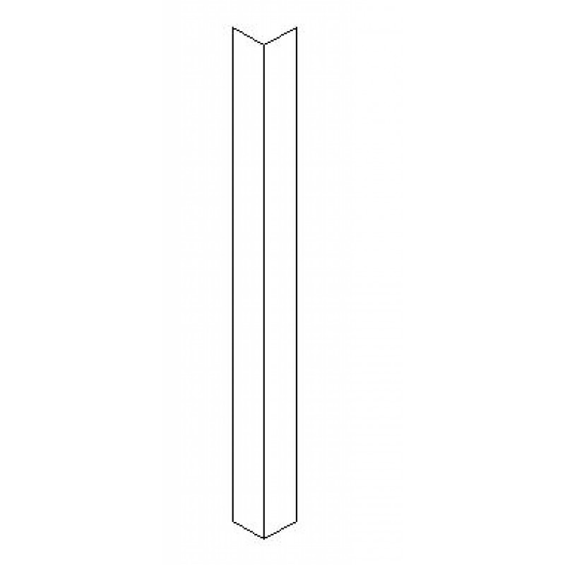 Corner Protector - Clear with 3 holes each edge for fixing