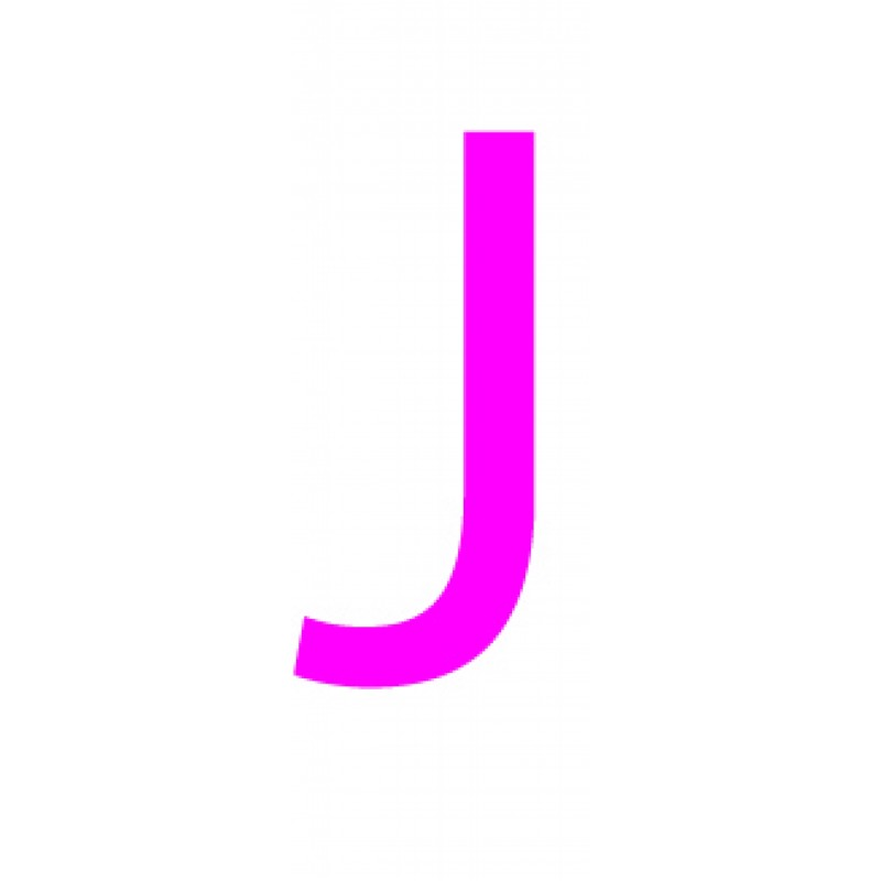 Laser cut letter J from 3mm thick acrylic