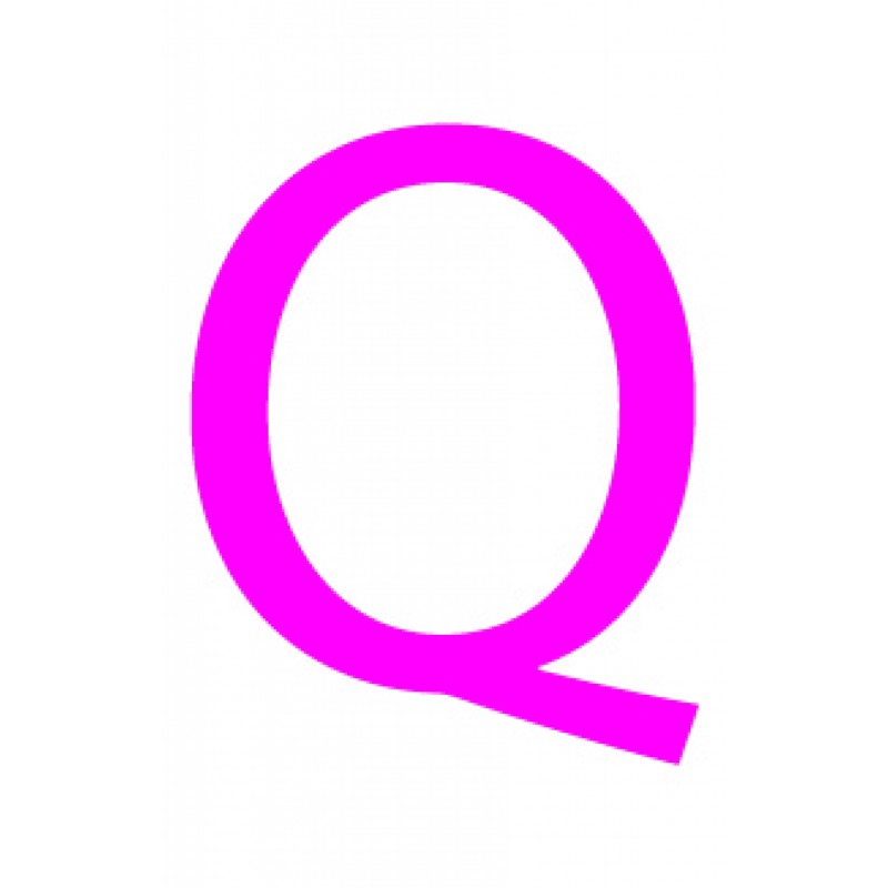 Laser cut letter Q from 3mm thick acrylic