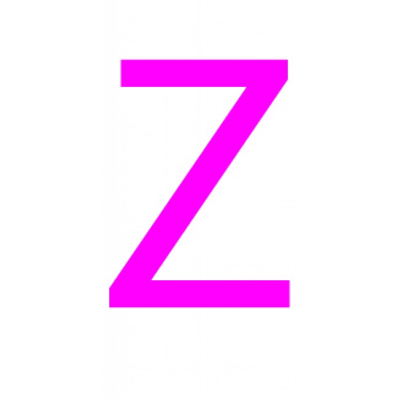 Laser cut letter Z from 3mm thick acrylic