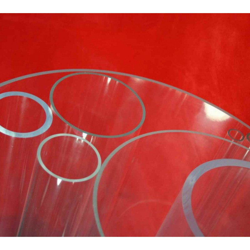 Clear Acrylic Tube 8mm OD 4mm ID (2mm Wall) x 1 metre length