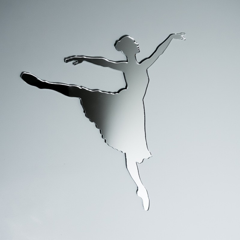 Acrylic Mirrored Ballerina Shape
