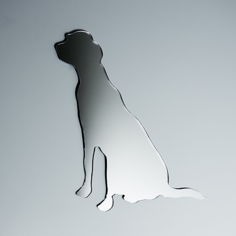 Acrylic Mirrored Sitting Dog Shape