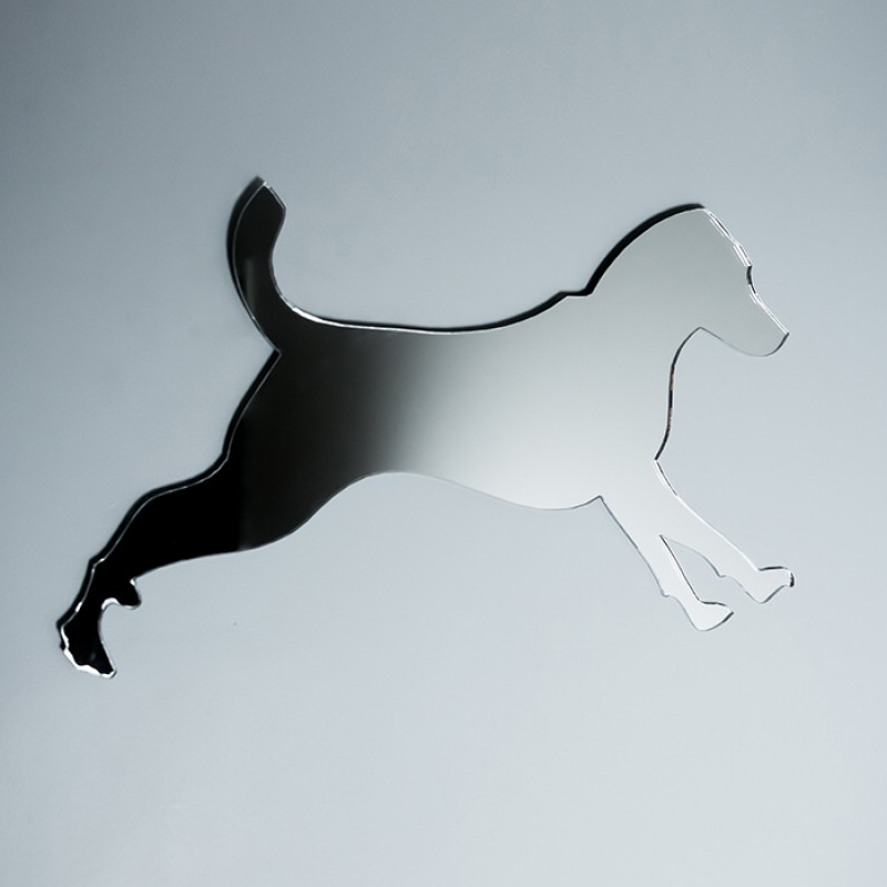 Acrylic Mirrored Jumping Dog Shape