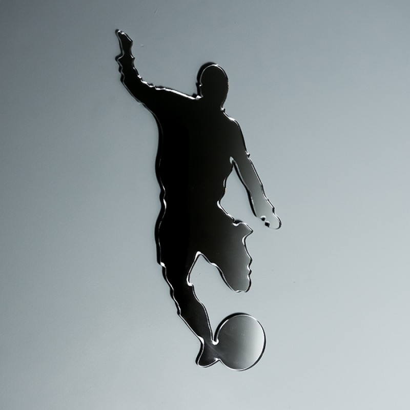 Acrylic Mirrored Footballer Shape