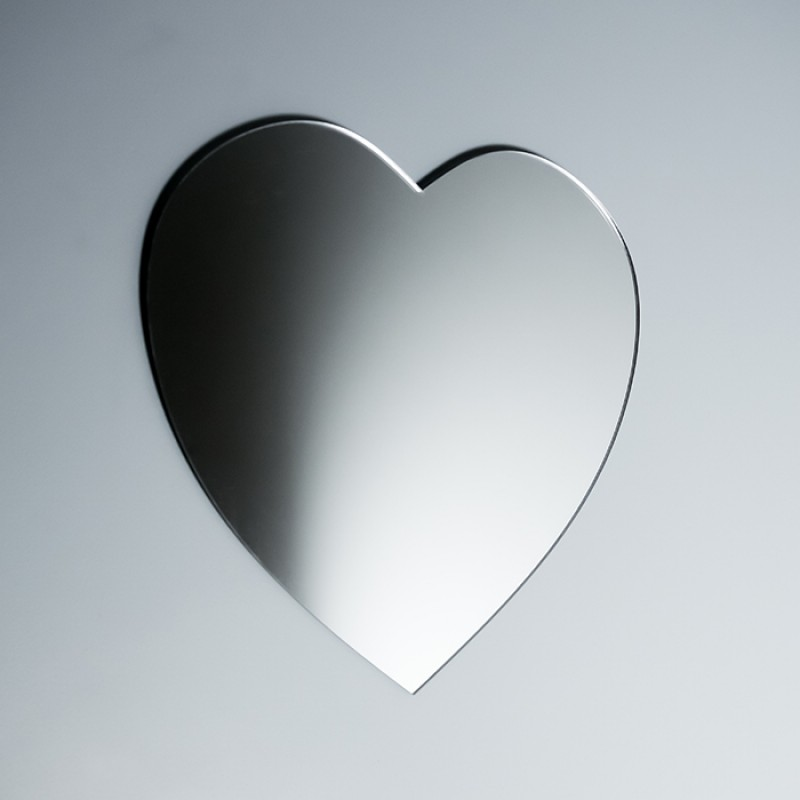 Acrylic Mirrored Heart Shape