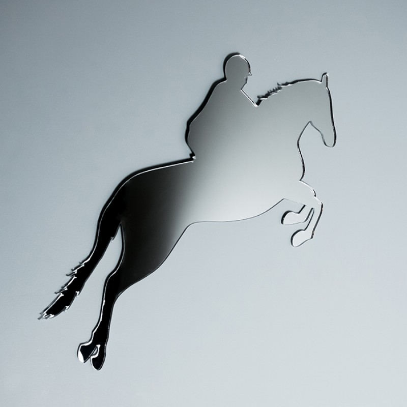 Acrylic Mirrored Jumping Horse Shape