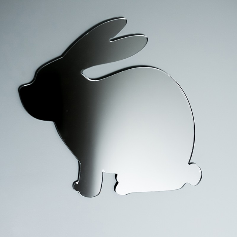 Acrylic Mirrored Sitting Bunny Rabbit Shape