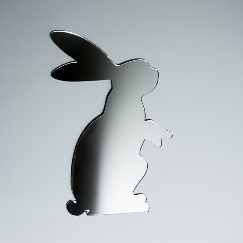 Acrylic Mirrored Standing Bunny Rabbit Shape