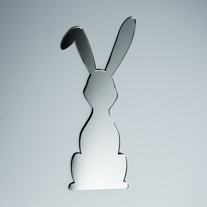 Acrylic Mirrored Cute Standing Bunny Rabbit Shape