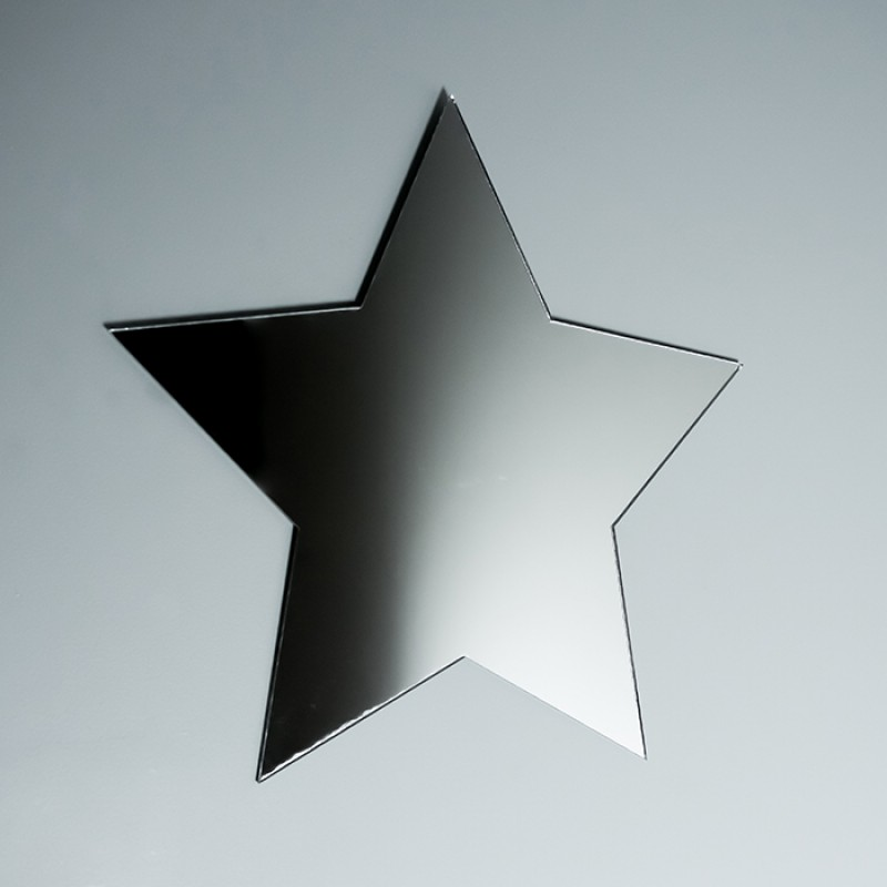 Acrylic Mirrored Star Shape