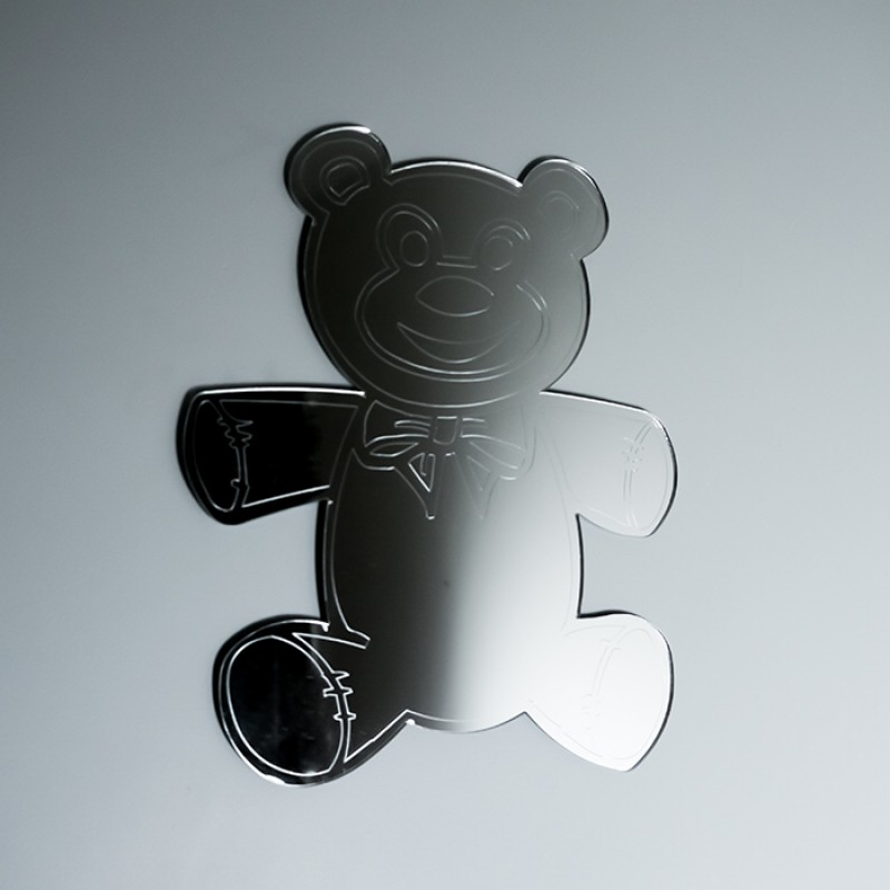Acrylic Mirrored Teddy Bear Shape
